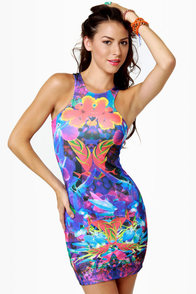 Trade Winds Floral Print Dress at Lulus.com!