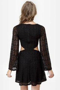 LULUS Exclusive Glory Days Black Lace Dress at Lulus.com!