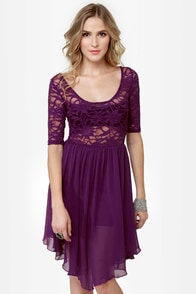 Dancing Days Purple Lace Dress