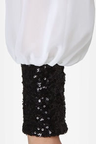 Cuff'n Up Ivory Sequin Dress at Lulus.com!