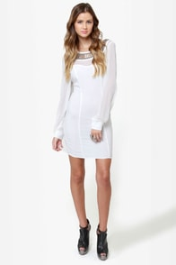 Place Your Bets Beaded Ivory Dress at Lulus.com!