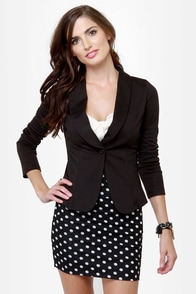 String Quartet Backless Black Blazer at Lulus.com!