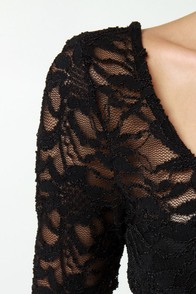 Jump Up Lace Black Jumpsuit at Lulus.com!