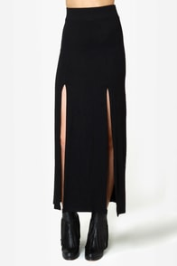 Makin' Moves Black Maxi Skirt