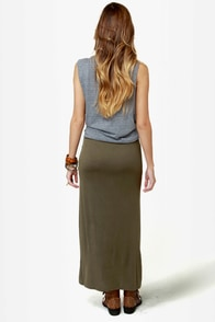 Makin' Moves Olive Green Maxi Skirt at Lulus.com!
