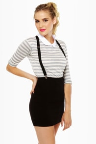 Dream of the '90s Black Suspender Skirt at Lulus.com!