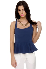 Ready to Rockabilly Navy Blue Tank Top