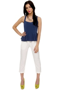 Ready to Rockabilly Navy Blue Tank Top at Lulus.com!