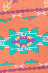Sizzling Southwest Orange Print Dress at Lulus.com!