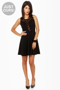 LULUS Exclusive Party Don't Stop Black Dress