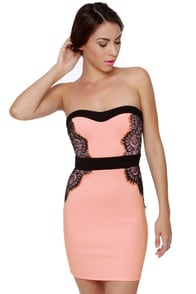 Utterly Irresistible Strapless Pink Dress at Lulus.com!