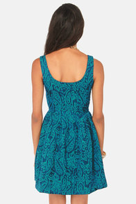 Jack by BB Dakota Corrine Blue Jacquard Dress at Lulus.com!