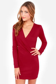 Foreign Film Wine Red Dress at Lulus.com!