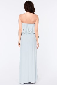 LULUS Exclusive Born Free Light Blue Strapless Maxi Dress at Lulus.com!