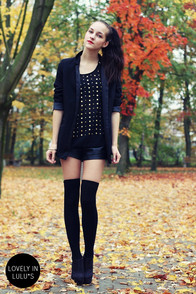 Have it All Studded Black Sleeveless Top at Lulus.com!