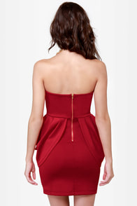 Rose Hips Strapless Red Dress at Lulus.com!