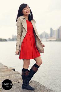 Good Day Sunshine Orange Dress at Lulus.com!