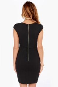 LULUS Exclusive Top Notch Black Midi Dress at Lulus.com!