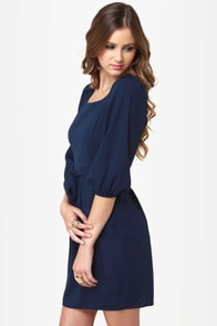 It's My Party Navy Blue Dress at Lulus.com!