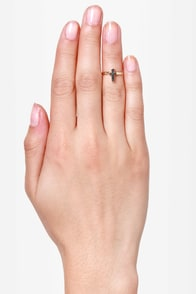 At Any Cross-t Gold Knuckle Ring at Lulus.com!