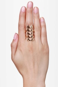 Ain\\\\\\\'t No Fang Gold Statement Ring