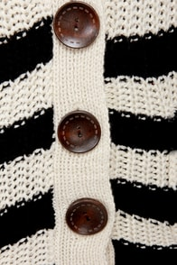 Calling Cardi Striped Cardigan Sweater at Lulus.com!