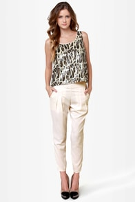 Costa Blanca Coast to Coast Ivory Cropped Pants
