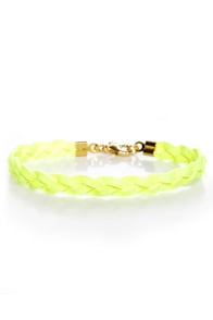 Made to Braid Neon Yellow Bracelet at Lulus.com!