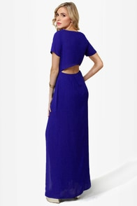 Don't Call It a Comeback Blue Maxi Dress at Lulus.com!