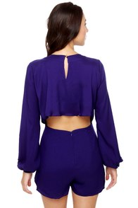 Have a Look-See Indigo Blue Romper at Lulus.com!
