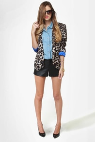 BB Dakota Bryn Black Leather Shorts at Lulus.com!