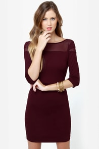 BB Dakota Jada Burgundy Dress