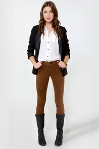 BB Dakota Astin Cognac Brown Pants