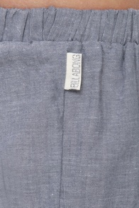 illabong Oracle Fox Gypsetty Pull-On Chambray Lace Shorts