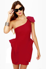 Marry the Night One Shoulder Red Dress