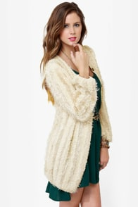 Darling Corina Beige Cardigan Sweater at Lulus.com!