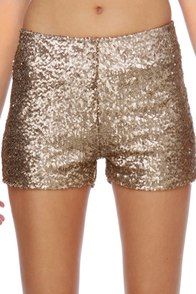 Hot Tamale Train Gold Sequin Shorts