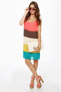 Blockie Talkie Color Block Dress