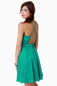 Got It Girlfriend Backless Aqua Dress