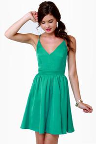 Got It Girlfriend Backless Aqua Dress