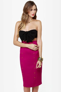 City Sleek-er Fuchsia Pencil Skirt at Lulus.com!