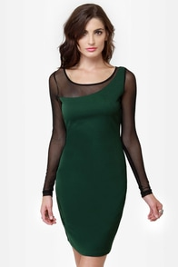 On the Town Green Dress at Lulus.com!