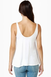 Obey Heartbreaker Ivory Tank Top at Lulus.com!