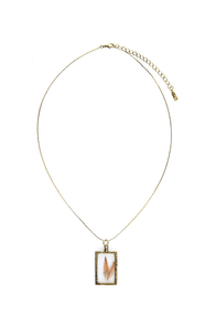 Obey Window Pane Gold Necklace