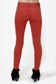 Obey Lean & Mean Tandoori Spice Red Jeans at Lulus.com!