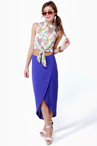 Can You Dig It Floral Print Top at Lulus.com!