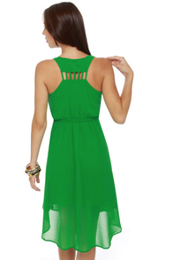 Lay-Yours Truly Green Dress at Lulus.com!