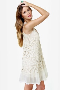 Black Sheep Star Gazer Cream Crochet Dress at Lulus.com!