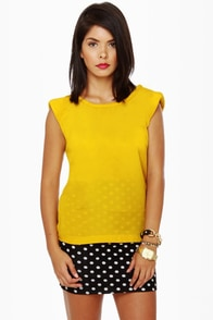 Black Sheep Dawn Yellow Top at Lulus.com!