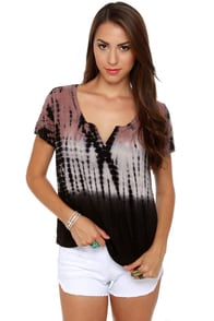 Black Sheep Environmentalist Ombre Tie-Dye Top at Lulus.com!